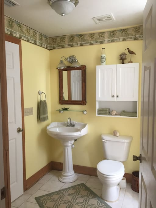 Only one quaint bathroom