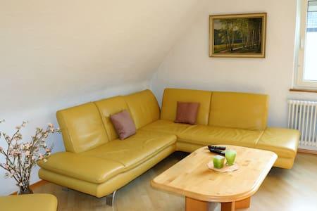 Ferienwohnung Würfel, (Radolfzell-Markelfingen), Ferienwohnung, 75qm, Balkon, 2 Schlafzimmer, max. 4 Personen