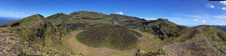 Base camp for La Soufriere Volcano in St. Vincent
