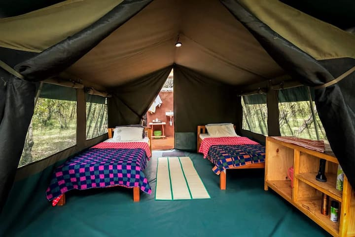 Tented Cottage with private bathroom at Masai Mara