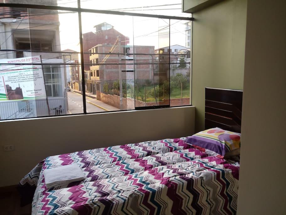 dormitorio 2, con 1 cama individual o matrimonial