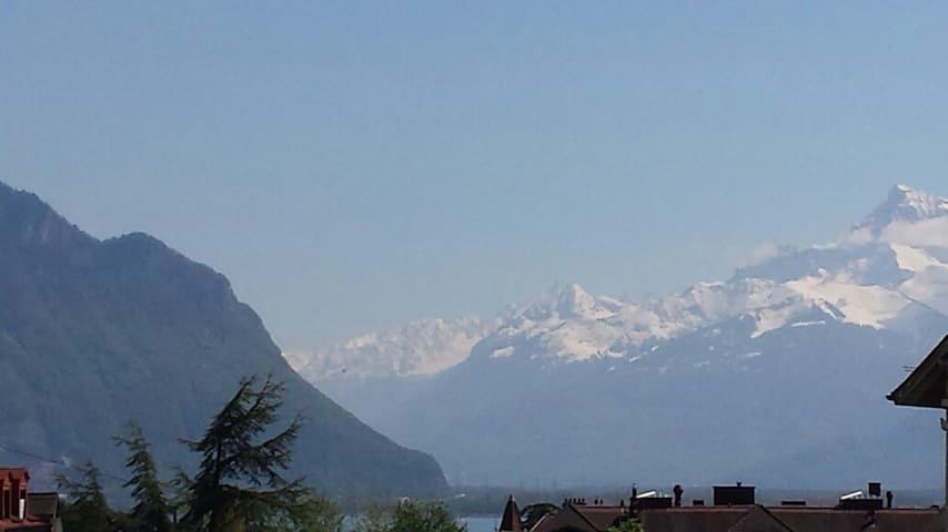 Bright & Cozy Aptm 10mn walking to the lake - Montreux - Appartement
