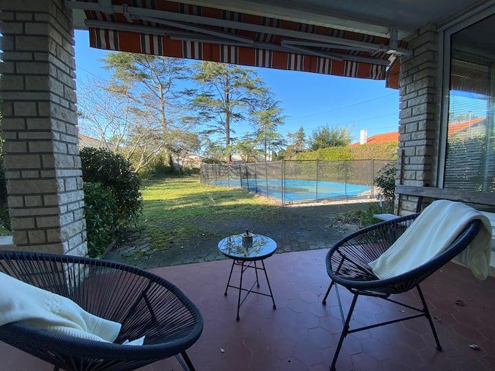 LA HUME- Arcachon - Villa avec piscine 6 couchages