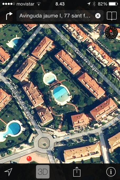 vista aérea de la zona comunitaria