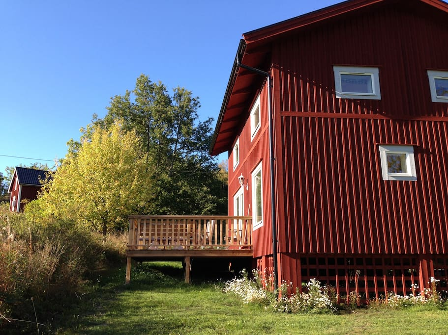The red wood cottages are built from scratch with natural materials and are meant to be both energy-efficient and quiet.