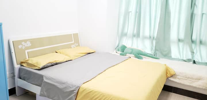 GZ East  IT gils's apartment| 1.5M Bed (Room 右里)