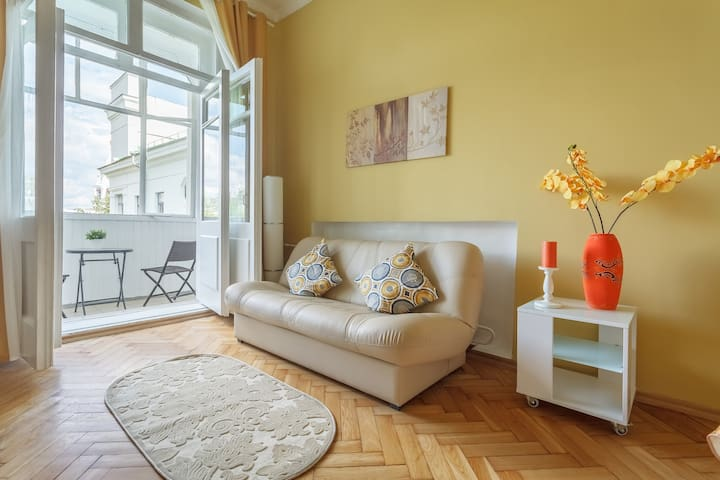 Warm 2 Bedroom Apartment in Central Moscow