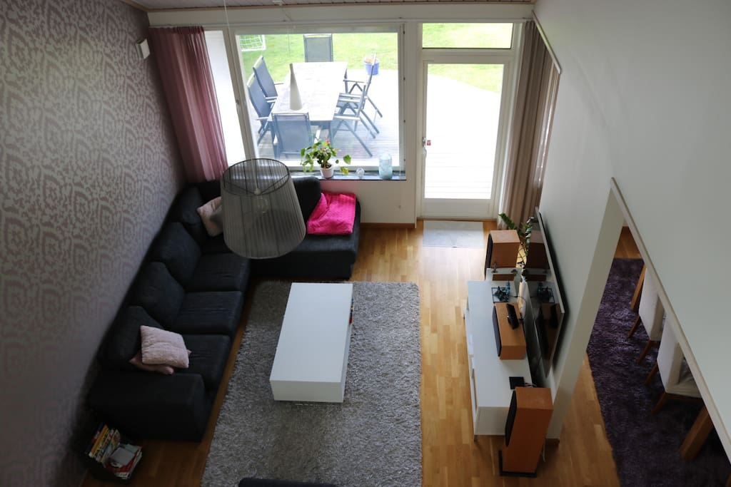 Open plan from upstairs