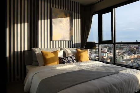 Sea View Sunshine suite 300m to Beach and Hilton - Muang Pattaya