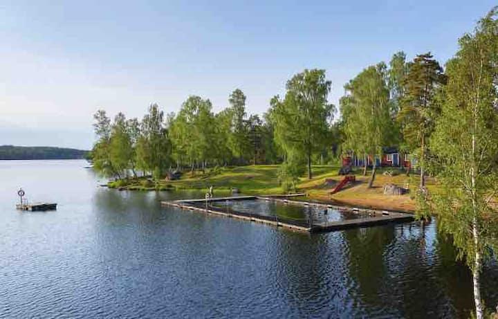 typisches schwedisches Ferienhaus, Stuga - Smaland