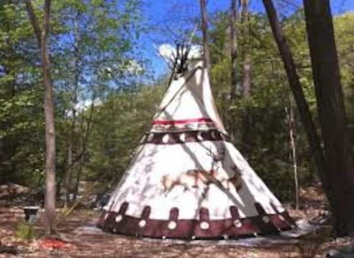 #3 Crescent Moon Tipi, Native American tipi