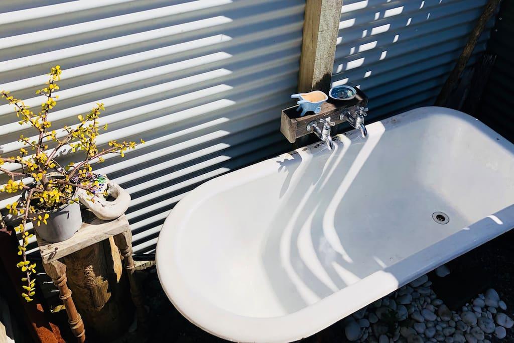 Outdoor bath area
