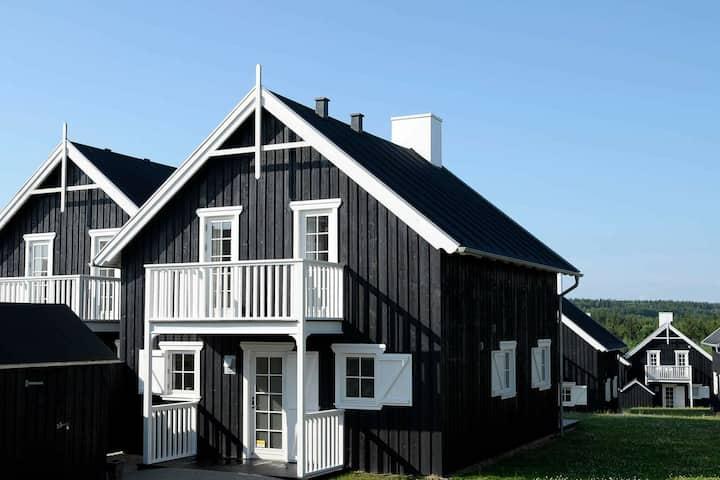 Moderna casa de vacaciones en Gjern con sauna