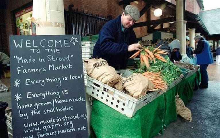With a famous Farmers' Market