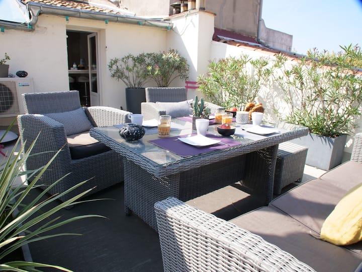 Amazing terrace / Aix center a/c