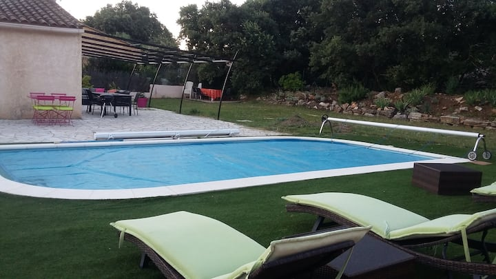 maison var 4ch piscine 120m2 jardin 1500m clos