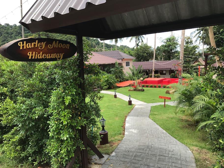 Entrance to resort