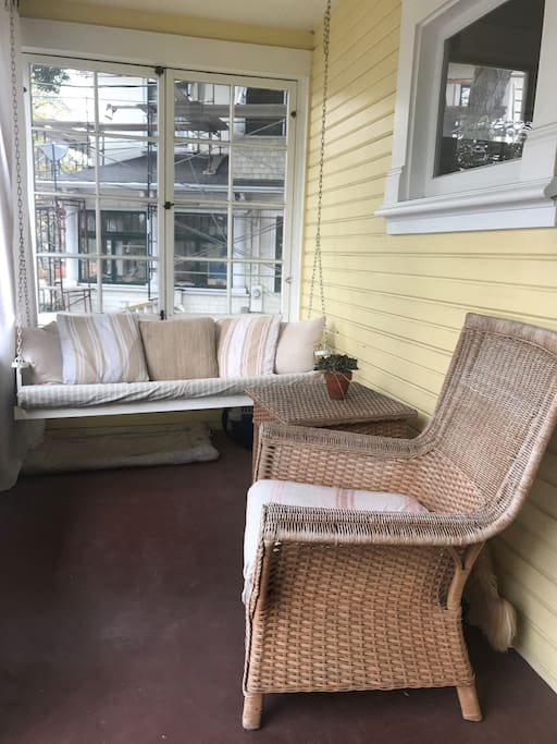 Front porch - great for morning coffee or evening wine
