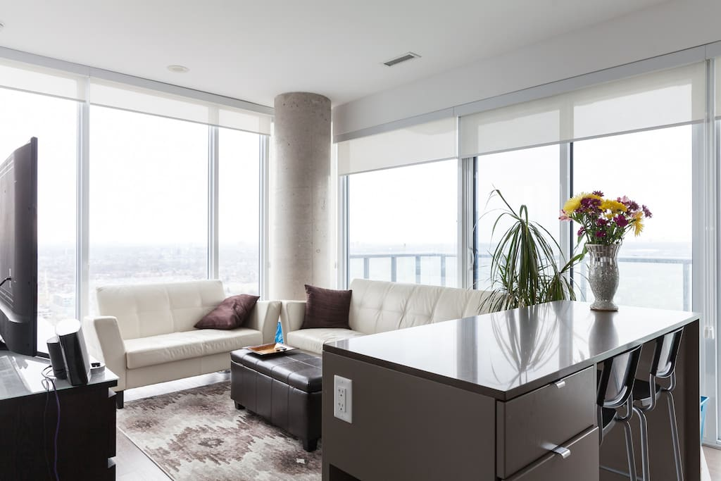 Living Room with views of Toronto
