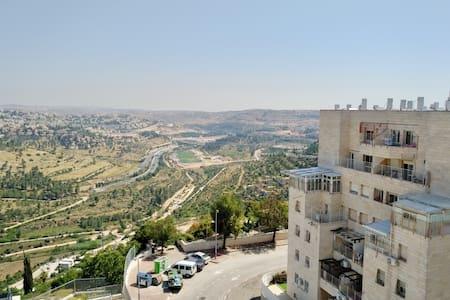 Charming Apt Near Park + Unique View of Jerusalem!