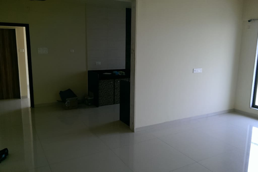 Kitchen/Living space and the entrance to the room