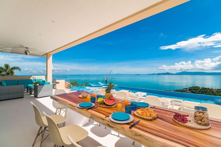 Extraordinary Seaview villa 5bed with Conciergerie