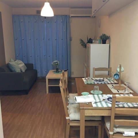 田村市エリアの観光やビジネスに見晴らしのよい高台1LDK - Tamura-shi - アパート
