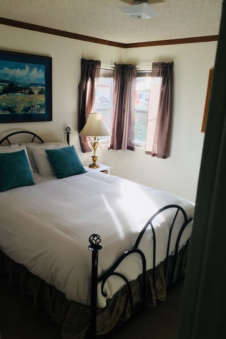Queen Bed with brand new linens