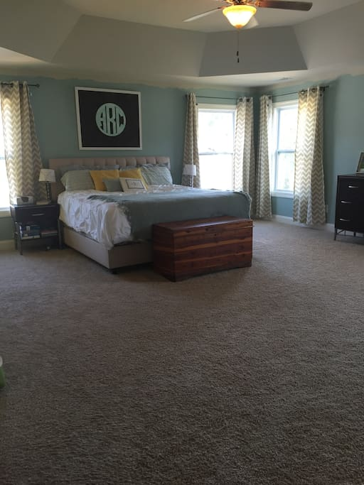 Master Suite has a King Bed and Dual Vanity Bathroom.