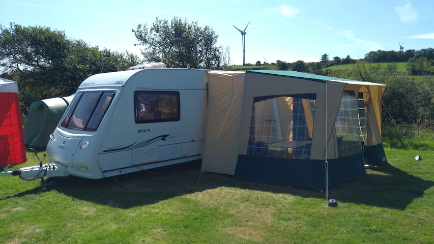 Towed to site Caravan, 3/4 berth,