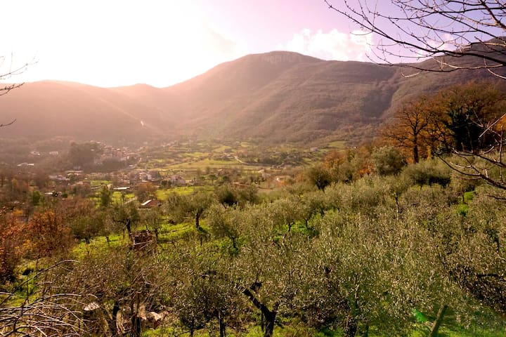 """The willow house"" A paradise in the mountains - Sant'Ambrogio sul Garigliano - Huvila"