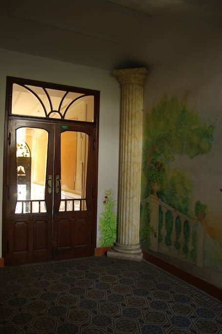 Entrance to building (picture inside the house)