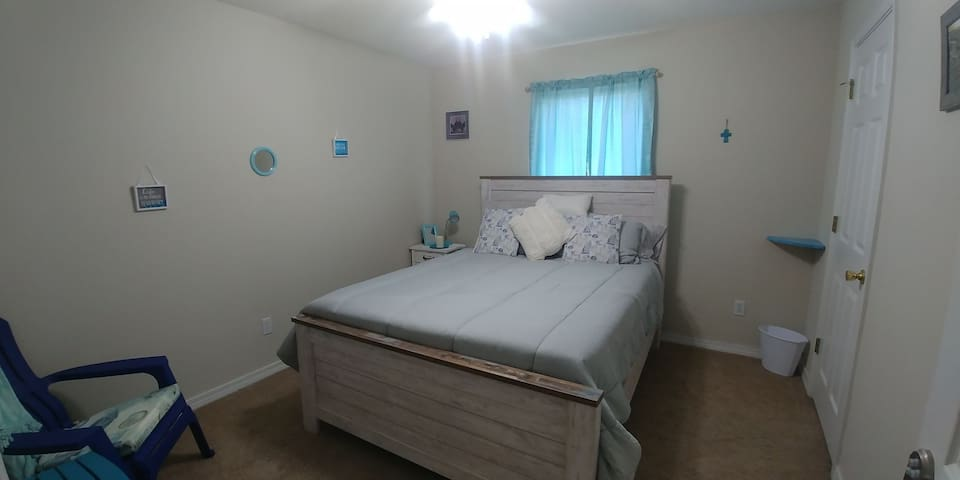 The bright & airy Starfish Room has everything you will need during your stay here in Pensacola.
