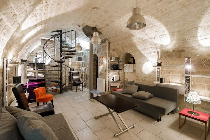Loft with private patio, Le Marais/Parties allowed