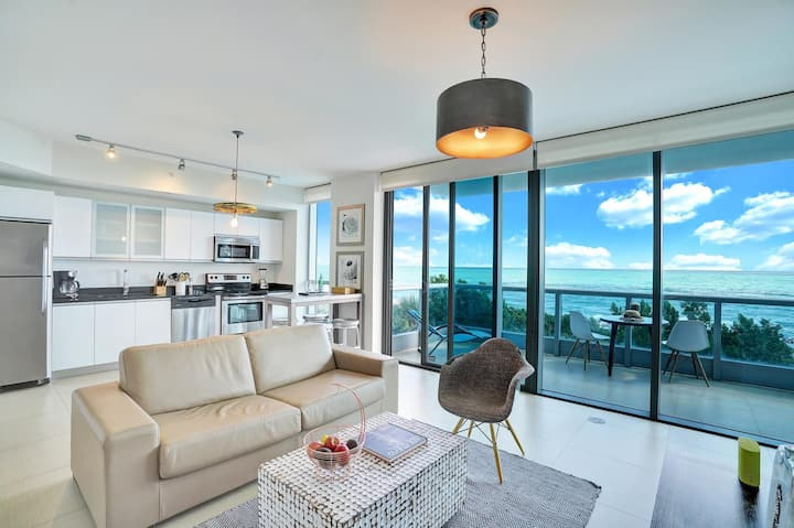 🌊 Dharma | Miami Beach | Beach Front 1BR | Direct Ocean View + Private Balcony 🌊