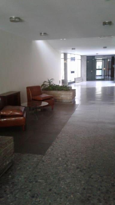 pasillo del edificio