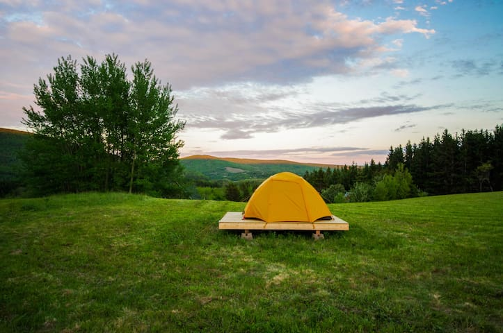 Sunrise & Sunset Campsite on the Margaree