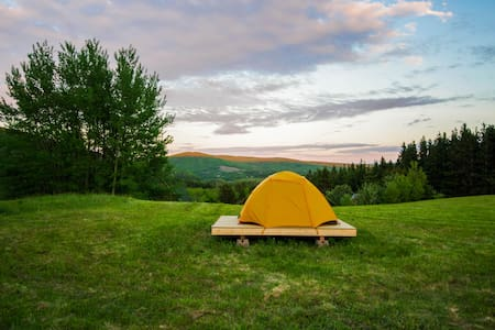 Campsite on the Margaree River