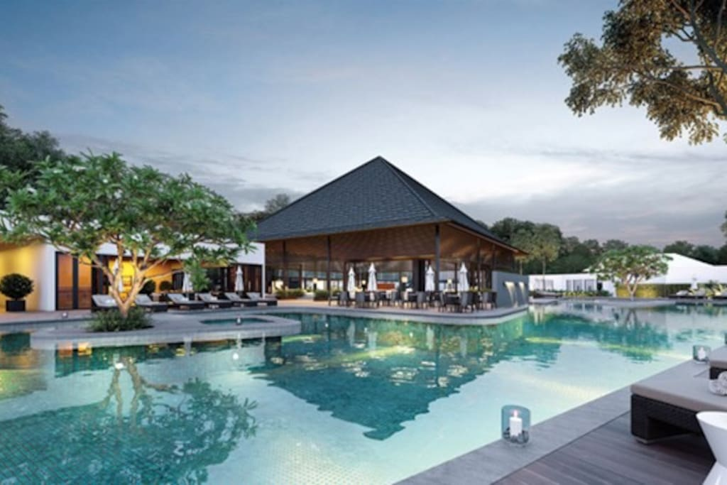 Lux 3br resort house w pool nadyne garden parkcity for Garden pool hanoi