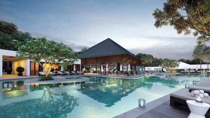 3BR Resort Garden House w Pool@Nadyne, ParkCity HN