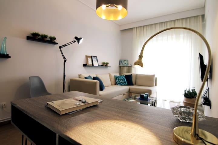 Living room desk perspective