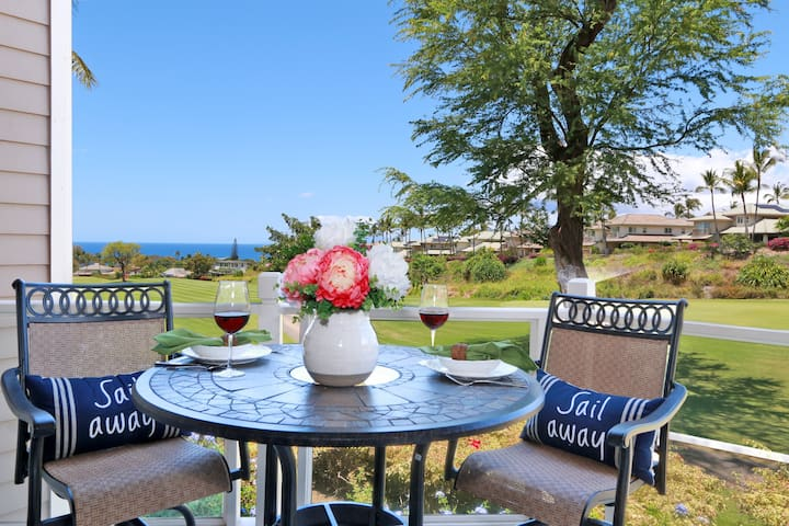 Maui Ocean View, Ground Floor, Beach House Chic - Wailea-Makena