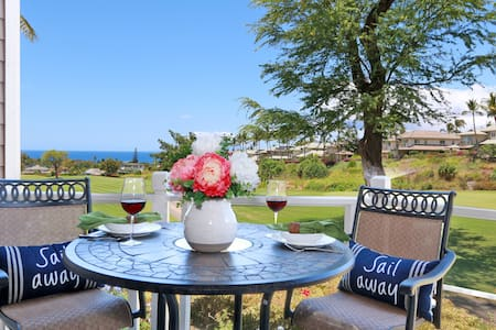 Maui Ocean View, Ground Floor, Beach House Chic - Wailea-Makena - Vila
