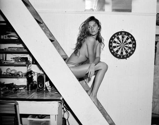 This house has been featured in countless magazines - Gisele on the stairs