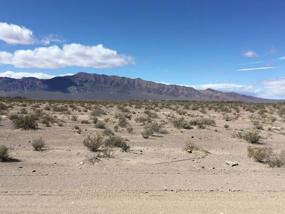 View from the deck looking toward Funeral Mountains and Death Valley