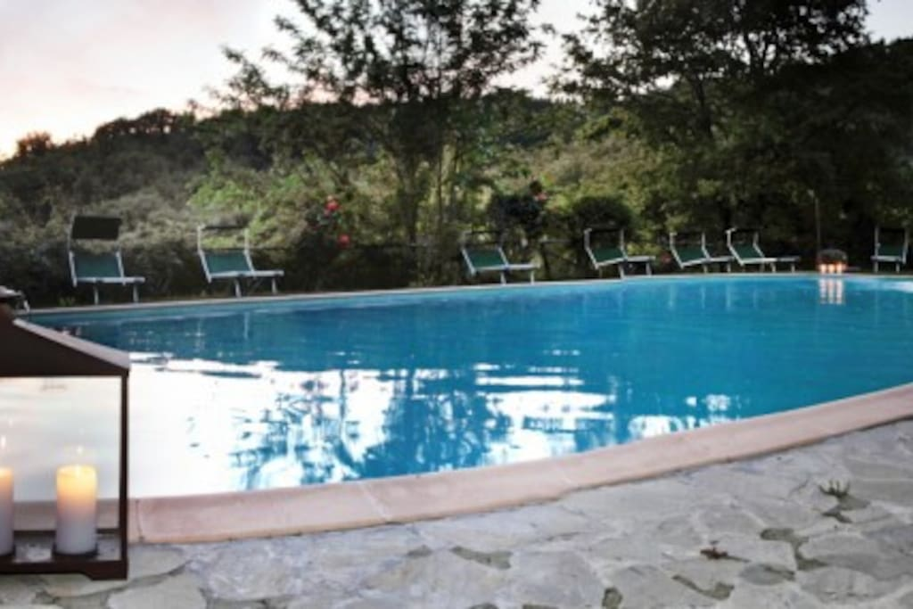 The pool at the Borgo