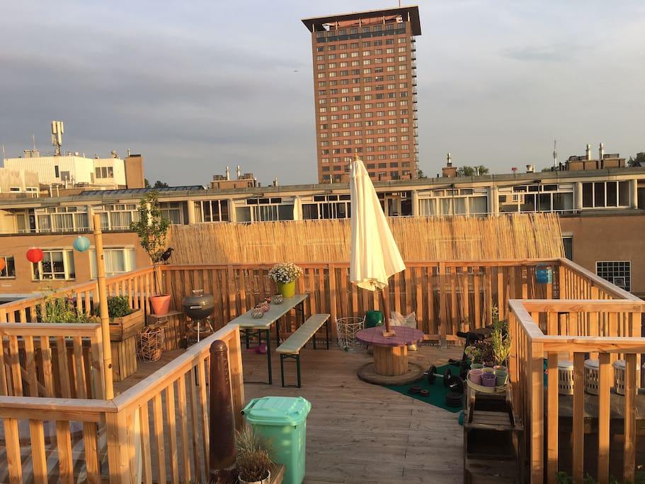 50 m2 roof terrace
