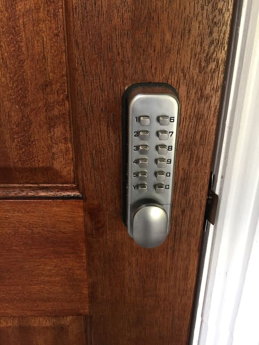 Guest has own private access/entry to the room through a secured lock using pin code.