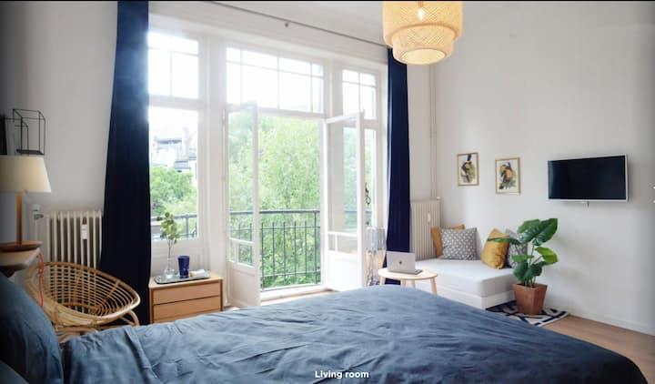 Magnifique studio avec vue sur jardins