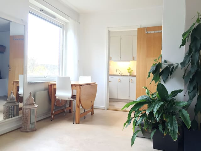 Clean room in a light apartment - Alingsås - Appartement